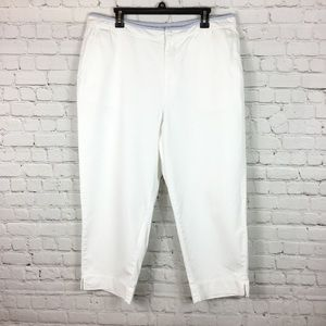 Tommy Hilfiger woman pants chino flat front 16